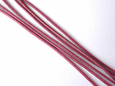REDISH BROWN COTTON WAXED 2MM WIDE CORD THONG JEWELLERY MAKING
