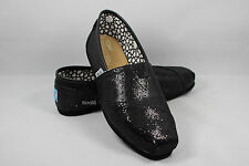 deafaa39927 New AUTHENTIC TOMS Women's Classics BLACK Glitters Shoes with Original Box