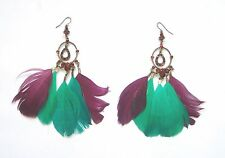 AMAZING RIVER ISLAND feather drop EARRINGS (M378 -  M388)