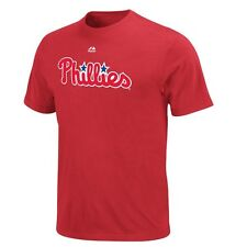 Philadelphia Phillies Youth Majestic Official Wordmark T-Shirt - Red