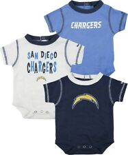 San Diego Chargers NFL Infant 3 Pack Creeper Set
