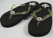 New Orleans Saints Womens Wedge Flip Flop Slippers