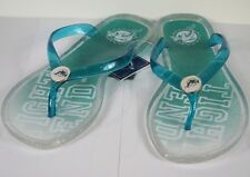 Miami Dolphins Womens Slogan Jelly Flip Flop Slippers