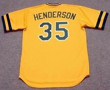 RICKEY HENDERSON Oakland Athletics 1984 Majestic Cooperstown Baseball Jersey