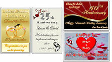 Fridge Magnet Gifts WEDDING ANNIVERSARY Silver Gold Diamond Ruby personalised