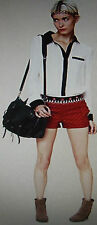 Womens 4 FREE PEOPLE RED EMBROIDERED SHORTS sequins mirrors embroidery small s