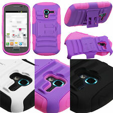 Samsung Galaxy Exhibit T599 Advanced HYBRID KICK STAND Rubber Case Phone Cover