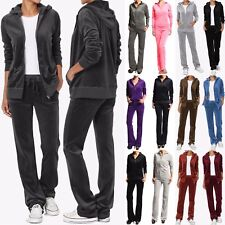 MOGAN VELOUR TRACKSUIT Lounge Zip Hoodie Jacket and Flare Pants Set