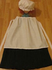 LADIES VICTORIAN TUDOR MEDIEVAL FANCY DRESS COSTUME SKIRT APRON HAT all sizes