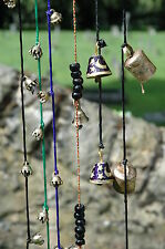 STRING OF BRASS BELLS VARIOUS DESIGNS WALL HANGING INDIAN/ ETHNIC/ HIPPY