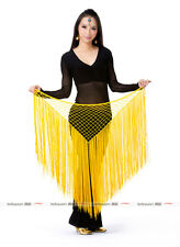 13 colors Hand Hook Long Tassels Triangle Shawl Hip Scarf Belly Dance