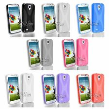 Samsung Galaxy S4,S IV, GT- i9500 Rubber TPU Gel X Line Silicone Case Cover Skin