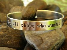 Not all those who wander are lost - Lord of the Rings inspired bracelet