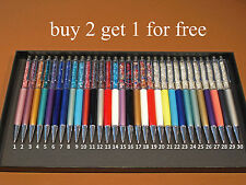 EXCELLENT QUALITY Crystal Diamond Pen made with SWAROVSKI elements 30 colors