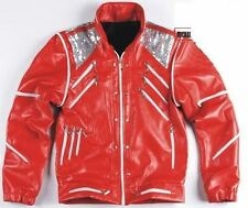 Michael Jackson Beat it Leather jacket Free Billie Jean Gifts All Size