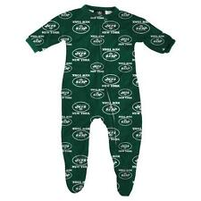 New York Jets NFL Infant Footed Raglan Zip Up Sleeper