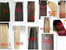 """22"""" 24"""" 26"""" 28"""" 30""""Remy 100% Human Hair Straight Weaving Weft Extensions 220 G"""