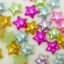 20/100pcs mixed stars design pearl resin flatback embellishment craft 10mm