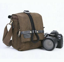 Canvas Waterproof Camera Shoulder Insert Bag Padded DSLR Nikon d7000 Canon 600d