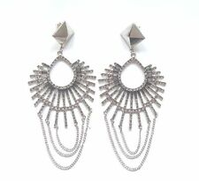 AMAZING RIVER ISLAND DIAMANTE STONE EARRINGS (NEW)