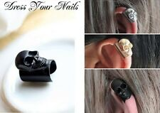 Skull Ear Bone Ear Cuff Clip Earring Goth Punk Fashion Jewellery  - UK