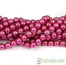 Top Quality Czech Glass Pearl Round Beads 3mm 4mm 6mm 8mm 10mm 12mm 14mm 16""