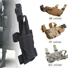 Tactical Military Pistol Gun Drop Leg Thigh Holster w/ Magazine Pouch Right Hand