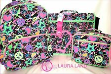 JUSTICE GIRLS NEON GLITTER GRAFFITI BACKPACK MESSENGER BAG OR LUNCH TOTE~NWT~LLA