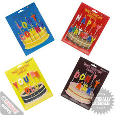Novelty Birthday Candles. Pack Comedy Funny Party Cake Age Old Set Gift Table