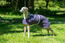 "DOG COAT 20' to 26"" WHIPPET AND LURCHER WATERPROOF RUBBER BACK RIP"