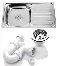 Single Bowl Stainless Steel Kitchen Sink With Complete Plumbing Kit