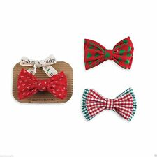 Mud Pie Christmas Holiday Best Baby Boy Clip On Bow Tie 158A001