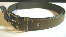 TOMMY HILFIGER GENUINE BROWN  LEATHER BELT-- ASSORTED SIZES- NEW