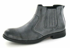 **SALE** Black /grey pull on mens Synthetic ankle boots.A3026. from Maverick