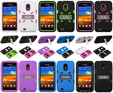 Samsung EPIC 4G TOUCH D710 Rubber IMPACT eNUFF kickstand HYBRID Skin Case Cover