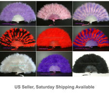 28 leaves Turkey Marabou Feather Fan, A+ Quality, 7 colors to pick up from, New!