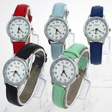 5 Color Cute White Dial Children Boy Girl Learn To Time Tutor Wristwatch U13