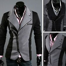 Trendy 2013 Collection Mens Slim Fit Formal Casual Trench Coat Jacket Size L M S