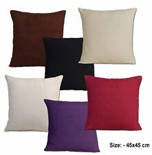 "Indian Classic Rib Cushion cover 45cm x 45cm, 18"" x 18"" Inches - In 6 Colours"