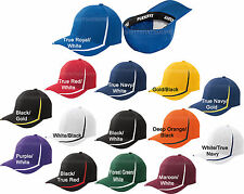 Flexfit Mens Fitted Colorblock Hat Moisture Wicking Baseball Cap Flex Fit NEW