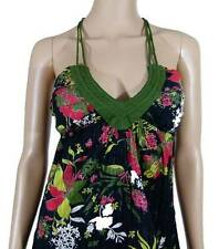 ROXY New Ladies Womens Floral Halter Dress Black - Multi Sizes 8 10 12