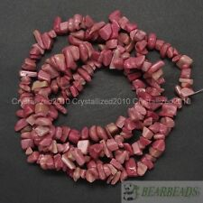 Natural Rhodochrosite Gemstone 5mm - 8mm Chip Nugget Loose Spacer Beads 35''