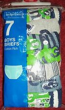 Boys 7 Pack Grey with 'Aping Around' Detail Briefs