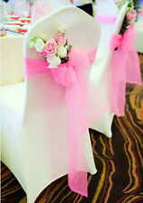 Colorful Organza Chair Sashes Bow Cover Banquet Wedding Decoration X1