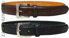 """MENS LEATHER BELTS 1.25"""" BELT BY MILANO IN BLACK AND BROWN"""