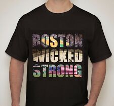 BOSTON WICKED STRONG black t-shirt