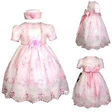 Baby Girl Toddler Wedding Holiday Prom Easter Formal Party Pink Dress (12M-36M)