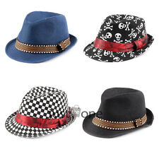 1 PCS Fashion Cool Cap Canvas Jazz Style Hat f Toddlers Kids Girls Boys Children