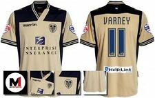 *13 / 14 - MACRON ; LEEDS UTD AWAY SHIRT SS + ARM PATCHES / VARNEY 11 = SIZE*