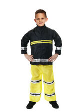 New Boys Fireman Sam Fire Fighter Fancy Dress Up Costume Kids Outfit XMAS Party